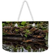 Baby Alligators Reflection Weekender Tote Bag