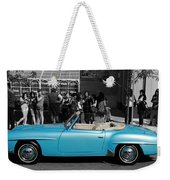 Baby Blue Benz Weekender Tote Bag