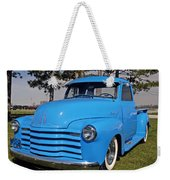 Baby Blue Chevy From 1950 Weekender Tote Bag