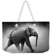 Baby Elephant Running Weekender Tote Bag