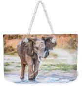 Baby Elephant Spraying Water Weekender Tote Bag