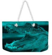 Baby Gator Turquoise Weekender Tote Bag