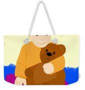 Baby Holding Teddy Bear Weekender Tote Bag
