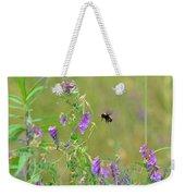 Baby Hummingbird Moth In Flight Weekender Tote Bag