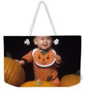 Baby In Pumpkin Costume Weekender Tote Bag