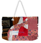 Baby It's Cold Outside Quilt  Weekender Tote Bag