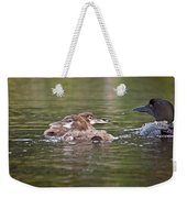 Baby Loons And Mom Weekender Tote Bag