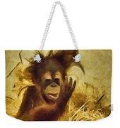 Baby Orangutan At The Denver Zoo Weekender Tote Bag