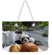 Baby Panda And Croissant Rolls Weekender Tote Bag