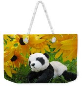 Baby Panda Under The Golden Sky Weekender Tote Bag