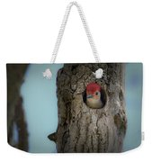 Baby Red Bellied Woodpecker Weekender Tote Bag