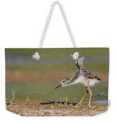 Baby Stilt Stretching Its Wings Weekender Tote Bag