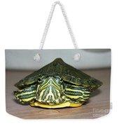 Baby Turtle Straight On Weekender Tote Bag