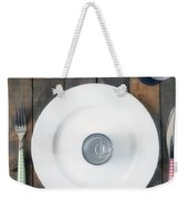 Bachelor's Dinner Weekender Tote Bag by Joana Kruse