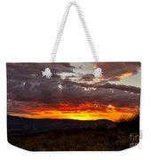Back Country Sunset Weekender Tote Bag