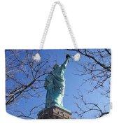 Back Of Liberty Weekender Tote Bag