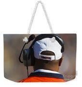 Back Of Mike London Head With Headset Virginia Cavaliers Weekender Tote Bag