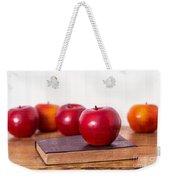 Back To School Apples Weekender Tote Bag by Edward Fielding