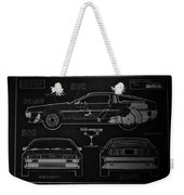 Back To The Future Delorean Blueprint 1 Weekender Tote Bag