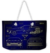 Back To The Future Delorean Blueprint 2 Weekender Tote Bag