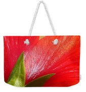 Back View Of A Beautiful Bright Red Hibiscus Flower Weekender Tote Bag