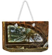 Back Window Of Antique Car Weekender Tote Bag