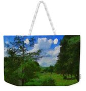 Back Yard View Weekender Tote Bag
