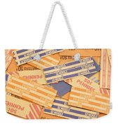 Background Of Empty Coin Rolls Weekender Tote Bag