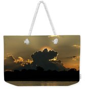 Backlit Clouds During Sunset Over Lago Weekender Tote Bag