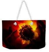 Backlit Flower Weekender Tote Bag by Fabrizio Troiani