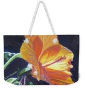 Backlit Hibiscus Weekender Tote Bag