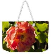 Backlit  Rose Weekender Tote Bag
