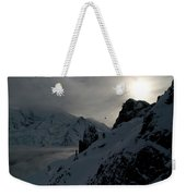 Backlit Skilift In Beautiful Landscape Weekender Tote Bag