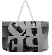 Backside Of Hope In Black And White Weekender Tote Bag