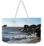 Backwash On Sunset Beach Cape May Weekender Tote Bag