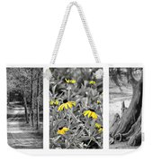 Backwoods Escape Triptych Weekender Tote Bag