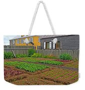 Backyard Garden In Louisbourg Living History Museum-1744-ns Weekender Tote Bag