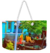 Backyard In Bright Colors Weekender Tote Bag
