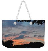 Backyard Sunset Weekender Tote Bag