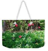 Backyard Tulips Weekender Tote Bag