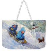 Backyard Winter Olympics Weekender Tote Bag