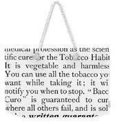 Baco-curo Ad, 1893 Weekender Tote Bag
