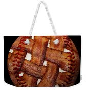 Bacon Weave Baseball Square Weekender Tote Bag by Andee Design