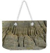Badland Erosion Of Soft Conglomerate Sediment Weekender Tote Bag