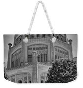 Bahai Temple Wilmette In Black And White Weekender Tote Bag