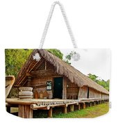 Bahnar Home With Extension As Family Grows At Museum Of Ethnology In Hanoi-vietnam  Weekender Tote Bag