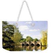 Bakewell Bridge - Over The River Wye Weekender Tote Bag