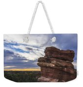 Balanced Rock At Sunrise - Garden Of The Gods - Colorado Springs Weekender Tote Bag