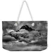 Balck And White Tantalus Peaks Weekender Tote Bag