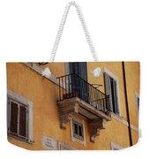 Balcony Piazza Della Madallena In Roma Weekender Tote Bag
